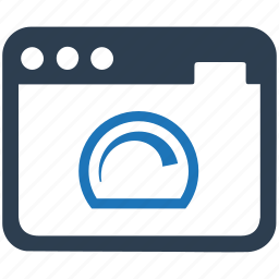 browser, page speed, server response icon