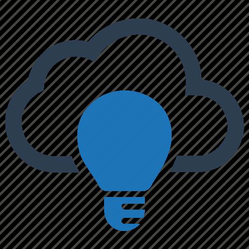 cloud, creative idea, idea icon