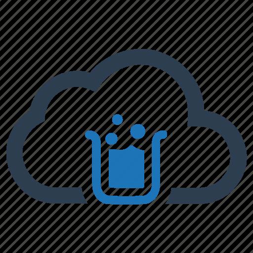 cloud, lab, laboratory, research icon