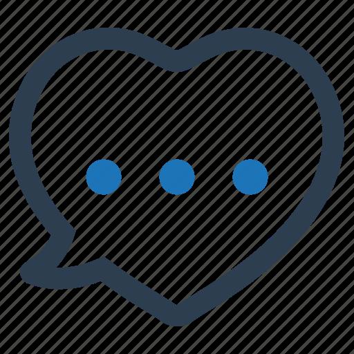 chat, love, romantic, talk icon