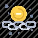 less, smaller, remove, web icon
