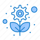 gear, plant, recycling, sustainable icon