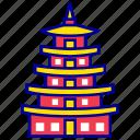asian, city, cityscape, landmark, natinal folk museum, seoul, travel icon