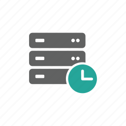 clock, connect, database, later, network, save, server icon