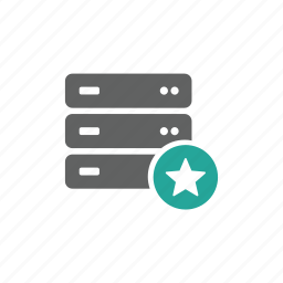 database, favorite, hardware, like, network, save, server icon