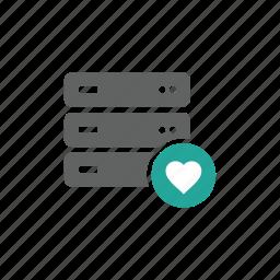 cloud, database, favorite, guardar, like, network, save, server icon