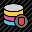 database, datacenter, protection, shield, storage icon