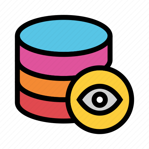 Database, eye, server, storage, view icon - Download on Iconfinder