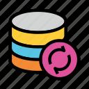 database, datacenter, refresh, reload, server icon