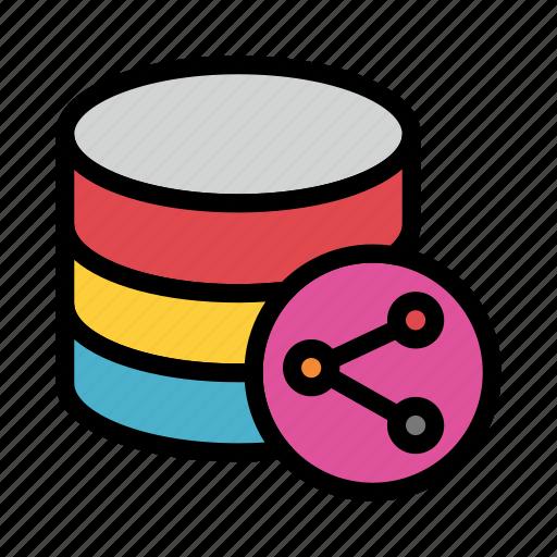 Connect, database, datacenter, server, share icon - Download on Iconfinder