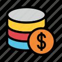 cash, database, dollar, mainframe, storage