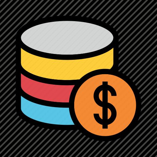 Cash, database, dollar, mainframe, storage icon - Download on Iconfinder