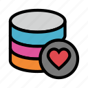 database, datacenter, favorite, server, storage icon