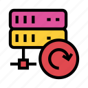 database, datacenter, mainframe, refresh, reload icon