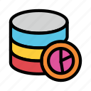 chart, graph, mainframe, server, storage icon