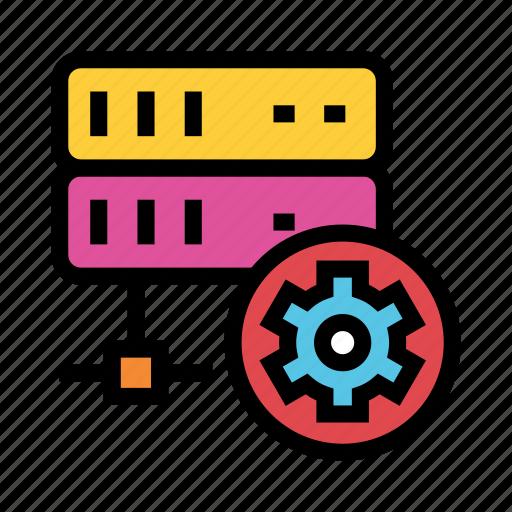 database, mainframe, server, setting, storage icon