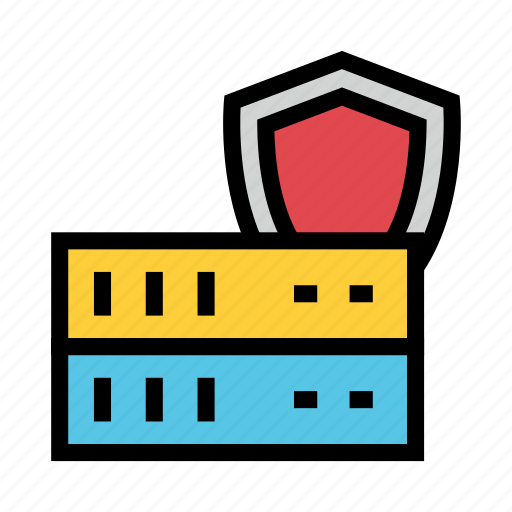Protection, security, server, shield, storage icon - Download on Iconfinder