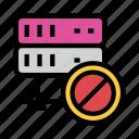 ban, block, mainframe, server, storage