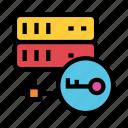 key, lock, protection, secure, storage icon