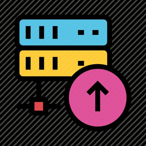 Database, datacenter, mainframe, storage, upload icon - Download on Iconfinder