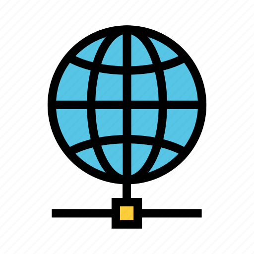 connect, globe, network, share, world icon