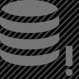 alert, error, exclamation, server icon
