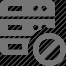 block, server, stop icon