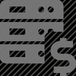 dollar, money, server icon
