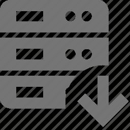 arrow, down, download, server icon