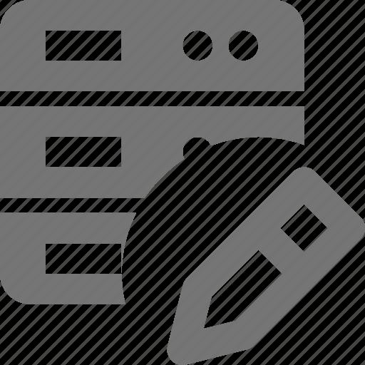 edit, pencil, server icon