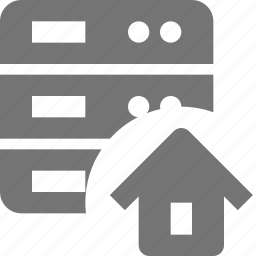home, house, server icon