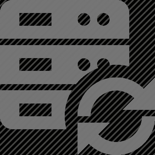 arrows, refresh, reload, server, sync icon