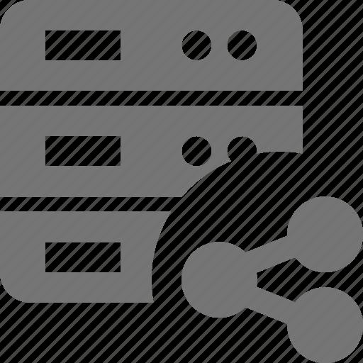 server, share icon
