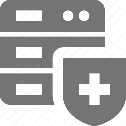 security, server, shield icon