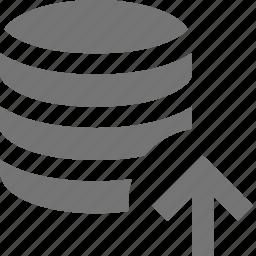 arrow, server, up, upload icon