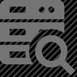 magnify, search, server, view icon