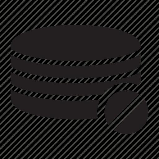 block, cancel, server, technology icon