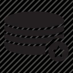 bookmark, favourite, server, star, technology icon
