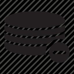 circle, minus, server, subtract, technology icon