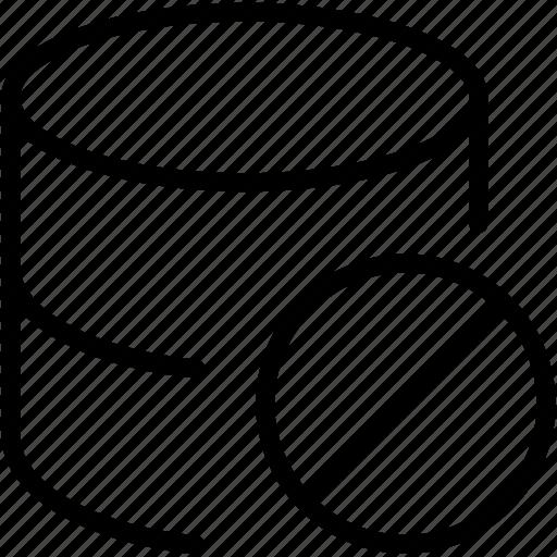 block, data, database, dbms, ordbms, rdbms, storage icon