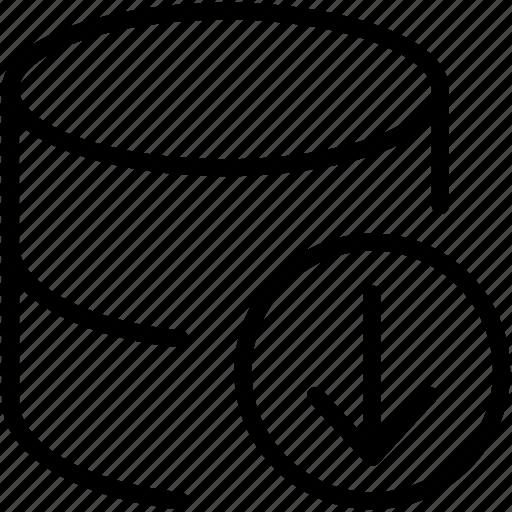 data, database, dbms, download, ordbms, rdbms, storage icon