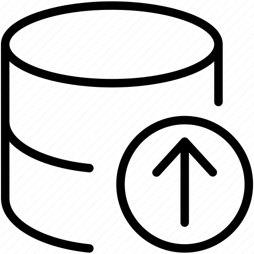 data, database, dbms, ordbms, rdbms, storage, upload icon