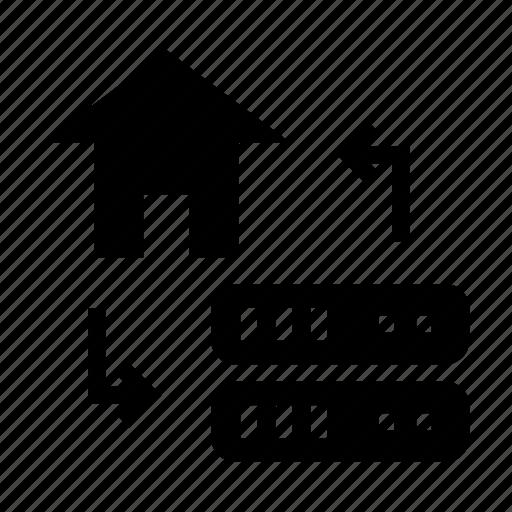 database, datacenter, home, server, storage icon
