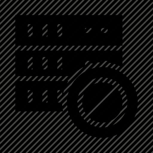 ban, block, database, mainframe, storage icon