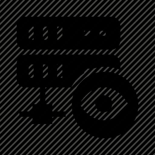 database, mainframe, server, storage, view icon