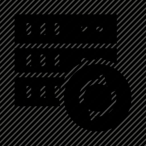 database, redo, reload, server, storage icon