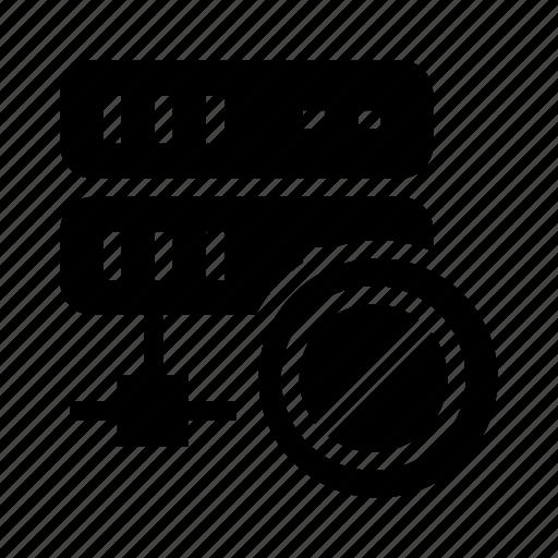 ban, block, mainframe, server, storage icon