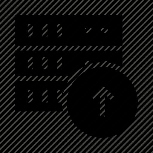 database, mianframe, server, storage, upload icon