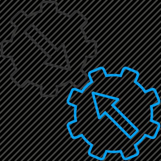 engine, gear, industrial, integration, machine, plugin, technology icon