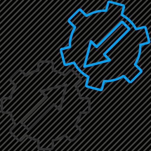 engine, gear integration, industrial, machine, plugin, system, technology icon
